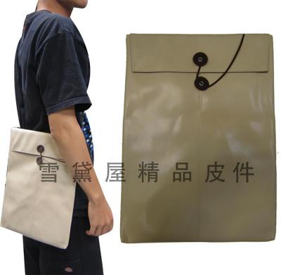 Kawasaki 平板滑鼠墊套10平板套台灣製造品質保證護套滑鼠墊組可放A4紙防水皮革附長背帶 (3.4折)