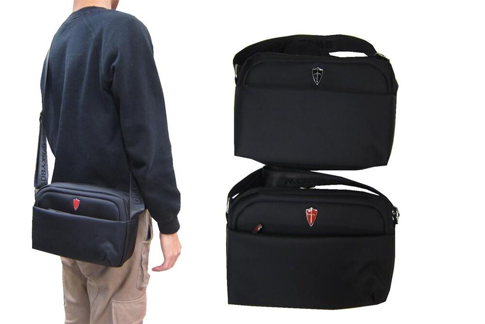 斜背包中容量三層主袋+外袋共四層進口防水尼龍布隨身肩背斜側背二層主袋