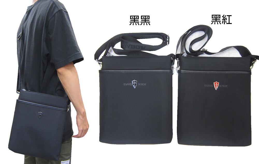 肩側包中容量主袋+外袋共五層扁型包設計三層主袋口防水尼龍布中性款