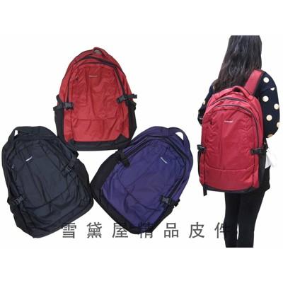 ~雪黛屋~KAWASAKI後背包中大容量超輕多隔層超輕電腦後背包高單數防水尼龍布材質可放A4資料夾萬 (10折)