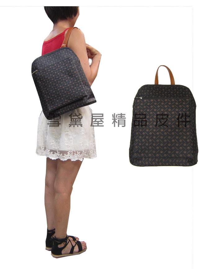 後背包中小容量主袋+外袋共三層進口防水防刮皮革+棉質內裡布材質手提後背