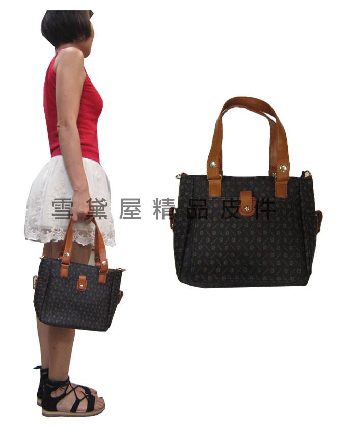 手提包中容量主袋+外袋共三層進口防水防刮皮革+棉質內裡布提肩斜背附長背帶