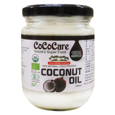 斯里蘭卡CoCoCare 有機冷壓初榨椰子油200ml (5.7折)