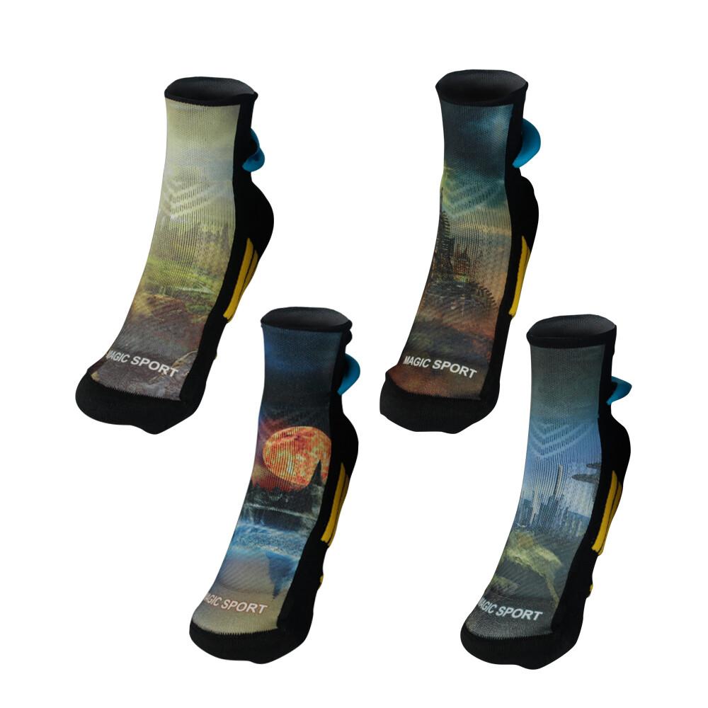 美肌刻 足底均壓透氣 運動抗菌除臭 3d短襪 四入組 jg-02120y01w