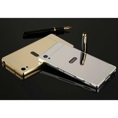 SONY XPeria z3 手機殼 鋁合金邊框+鏡面後蓋 防摔手機殼 保護殼 (5.3折)