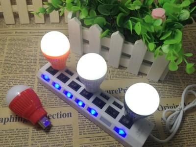 【小型燈泡】創意節能USB小燈泡 攜帶方便 小夜燈可接移動電源照明燈 小燈節能燈 (4.5折)