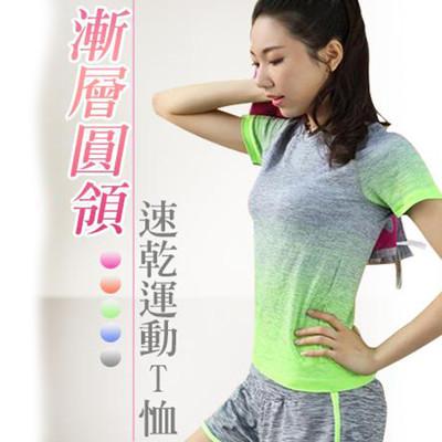 漸層圓領速乾運動T恤 (4.7折)