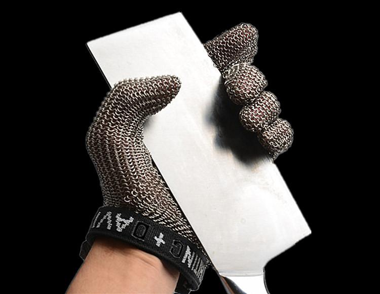 防割手套 法國原裝進口霍尼韋爾五指鋼絲手套金屬屠宰防切割裁剪不銹鋼手套  免運