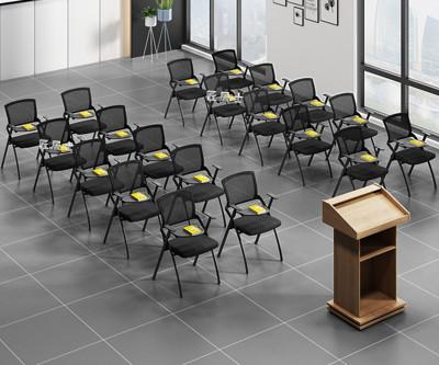 折疊椅 培訓椅帶寫字板折疊培訓桌椅一體桌凳會議室椅子學生會議椅帶桌板快速出貨 (5折)