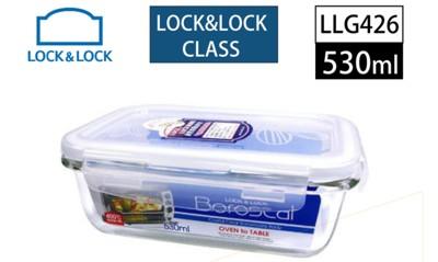 樂扣樂扣第三代耐熱玻璃保鮮盒長方形530ML(LLG426)-兩件組 (8折)
