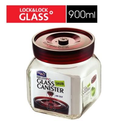樂扣單向排氣閥玻璃密封罐-900ml-LLG-551 (7.6折)