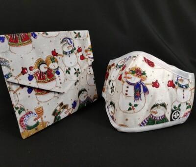 PYX 品業興 4層康盾抗菌防霾口罩 - M號 附收納袋 (銀白聖誕 珍藏版) (7.5折)
