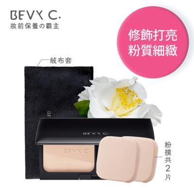 BEVY C.裸紗親膚凝光粉餅11g(內附海綿粉撲*2) (7.9折)