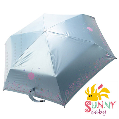 【Sunnybaby生活館】抗UV三收一變色傘-五彩繽紛-灰姑娘禮服(淡藍色) (6.3折)
