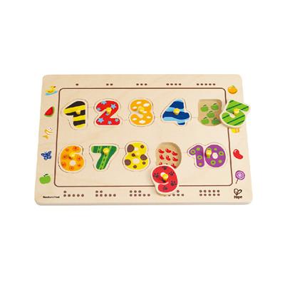 【德國Hape愛傑卡】數字配對木拼圖 (8.5折)