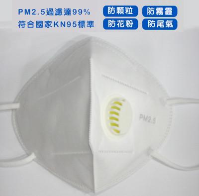 呼吸閥防霧霾活性炭口罩10入組 (2.2折)