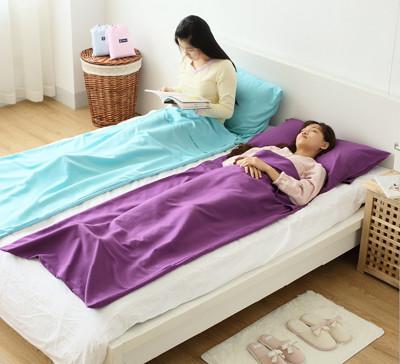 輕量便攜安心保潔睡袋加送旅行運動休閒雙腰包 (2.9折)