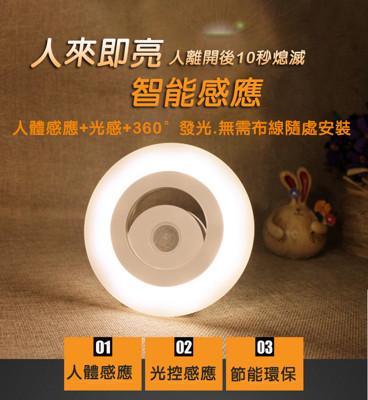 360度智慧光控人體LED感應燈 (5折)