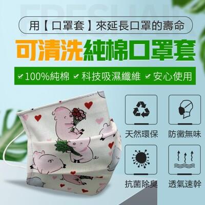 台灣透氣可替換布口罩 (0.8折)