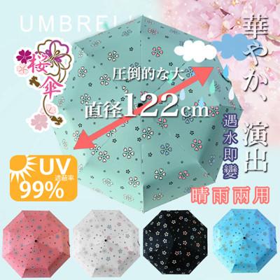 超大自動開合碳纖維抗UV變色晴雨傘-120公分 (1.4折)