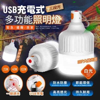 智能充電懸掛式LED燈泡-100W (4.4折)