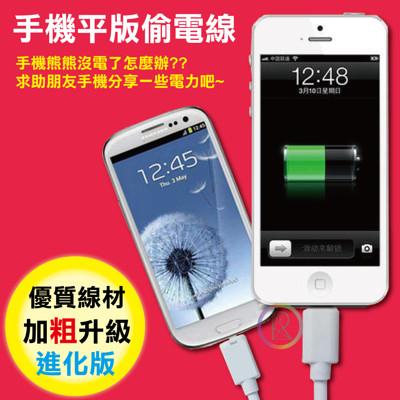 【超值4入】手機平版偷電線-適用micro接頭/支援OTG功能 (1.2折)