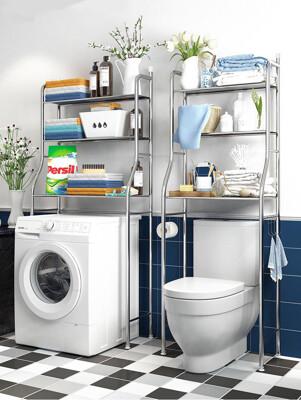 簡約不鏽鋼多功能浴室馬桶置物架/落地式馬桶架/洗衣機置物架 2款 (5.4折)