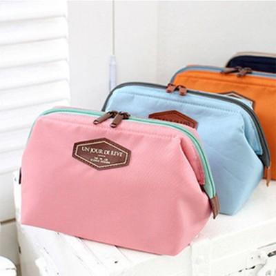 【JK SHOP】多功能 大容量 收納包 化妝包 可愛 鋼架 棉布化妝包 (E47) (4折)