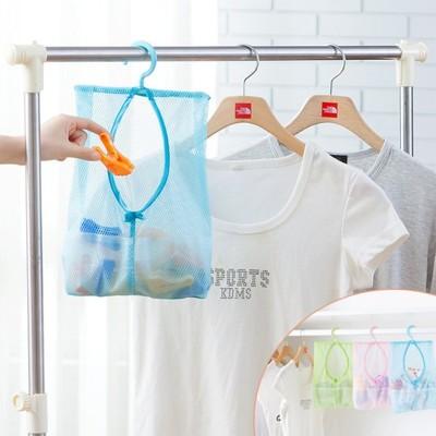 【JK SHOP】掛式 收納網袋 曬衣網袋 多用途收納掛袋(E189) (1.1折)