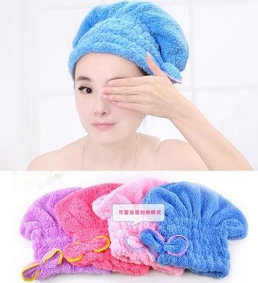 【JK SHOP】超強吸水蝴蝶結乾髮帽 乾髮毛巾 (E155) (1.2折)