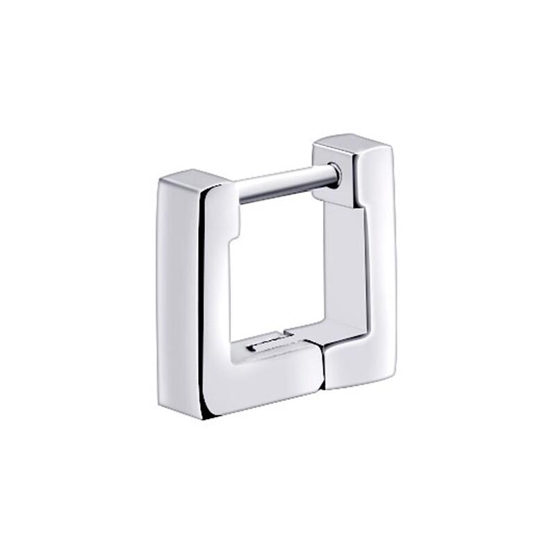 316l醫療鋼 正方形 平面素鋼 耳環耳圈扣-13mm10mm 防抗過敏 單支販售