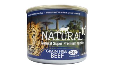 [24罐/箱]NATURAL10+原野無穀機能主食罐-草原牛肉185g(80492560-24 (9折)