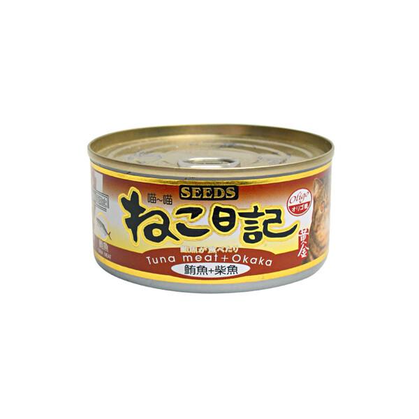 [48罐/箱]seeds-喵喵日記-鮪魚+柴魚170g(80040012-48