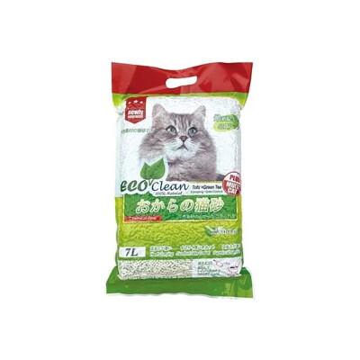 [6包組]ECO艾可豆腐貓砂7L-綠茶 (83460167-6 (6.4折)