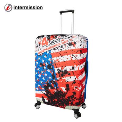 【Intermission】LCS214美國國旗 M號22-26吋日版彈力拉桿箱保護套 行李箱套 (5.3折)