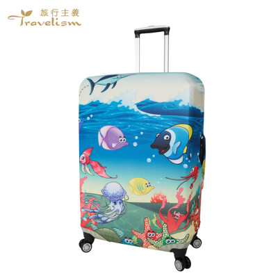 [Travelism-童趣系列] #海底奇兵# S號18-20吋 行李箱套旅行箱登機箱防塵套創意箱套 (5.3折)