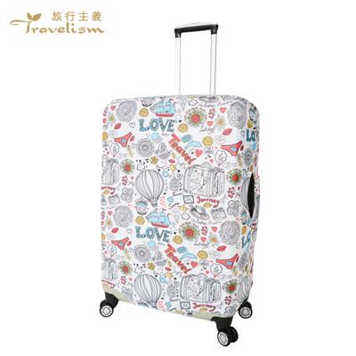 [travelism-童趣系列] #熱氣球#s號18-20吋 行李箱套旅行箱登機箱防塵套創意箱套 (5.3折)