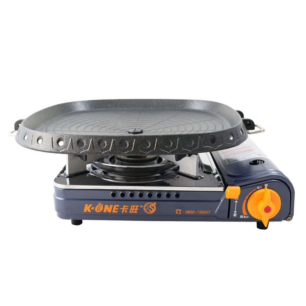 卡旺k1-a002sd雙安全卡式爐+韓國最新火烤兩用烤盤-nu-g