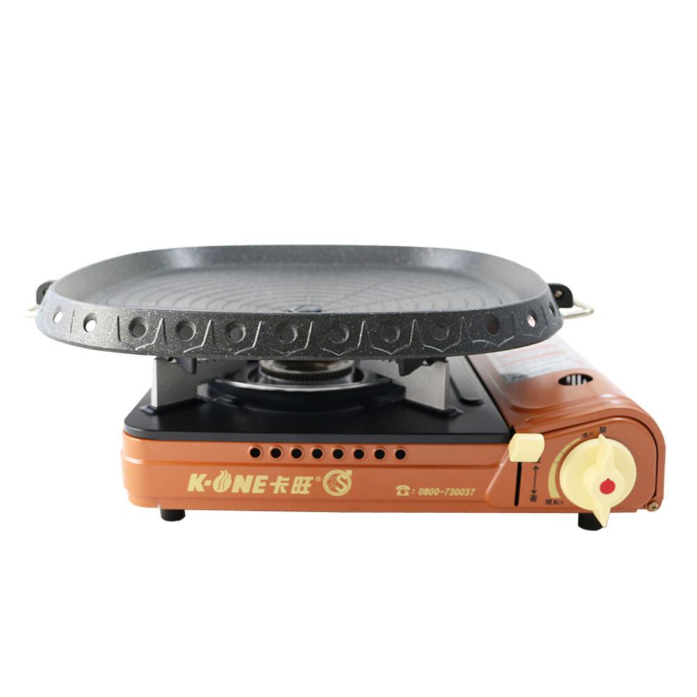 卡旺k1-a001d雙安全卡式爐+韓國最新火烤兩用烤盤-nu-g