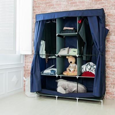 組合衣櫃【雙門加大加寬DIY防塵衣櫃】組合衣櫥 DIY衣櫥 (2.9折)