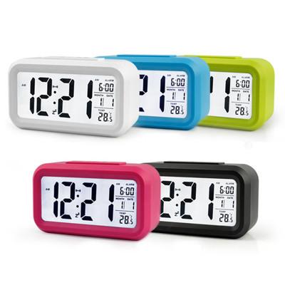 果凍色鬧鐘 LED鬧鐘 超大字幕 時尚 升級溫度版 靜音時鐘 電子鐘 光感鬧鐘 貪睡 聰明鐘 (4.6折)