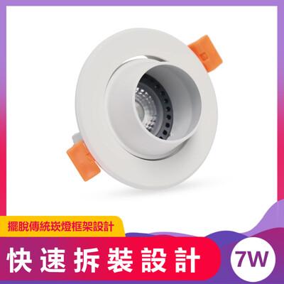 LED崁燈 7.5cm 7W 沙白AC Brian崁燈 (5.5折)