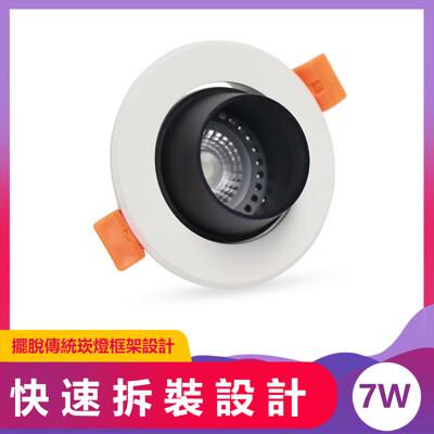 LED崁燈 7.5cm 7W 沙黑AC Brian崁燈 (5.5折)