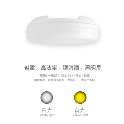 台灣製造 CNS認證 20W LED吸頂燈 防水防塵防蚊 (6.6折)