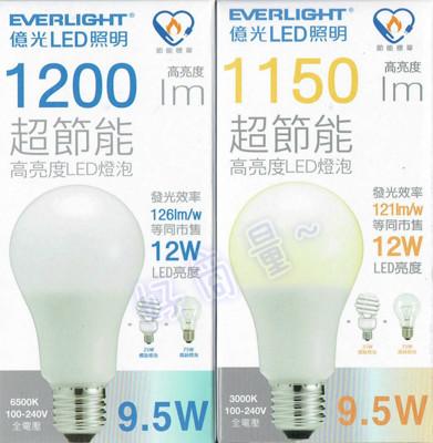 好商量億光 led 9.5w 燈泡 台灣大廠 最新款 超節能 高亮度 省電燈泡 e27 全電壓 (4.5折)