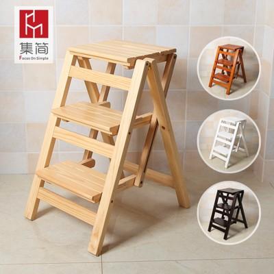 實木家用多功能折疊梯兩用梯椅梯凳室內移動加厚登高梯子爬梯 BLNZ 免運 (6.3折)