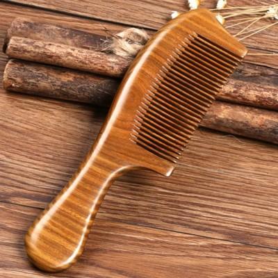 整木天然綠檀木梳子頭梳檀木梳子玉檀香木梳 免運 - 綠檀木梳 (6.2折)