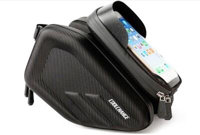 CoolChange酷改羽翼上管包 馬鞍包 硬殼防雨 一體成形 適用5~6.2吋手機 自行車上管包 (5.8折)