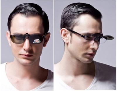夾式偏光鏡片可調高低鏡片 近視眼鏡變墨鏡 可拆式鏡片 太陽眼鏡 偏光鏡片 夜視鏡片 防風 (6.1折)