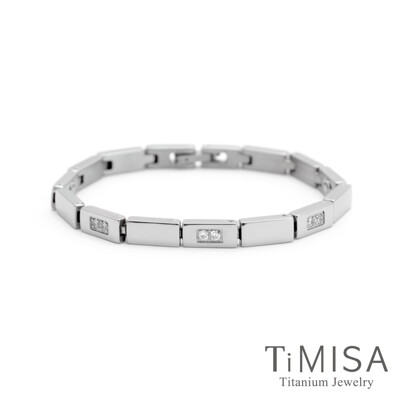 timisa 純鈦飾品陽光森林 晶鑽版純鈦鍺手鍊 (8.8折)